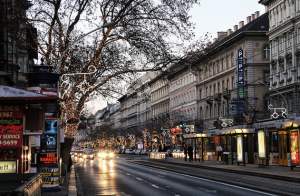 Andrassy Avenue in December