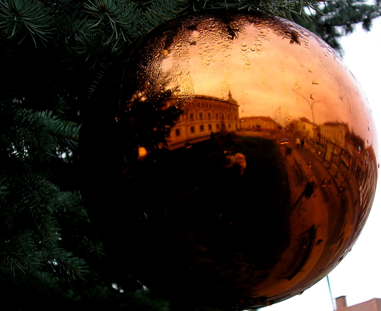 The City in a Christmas Ball