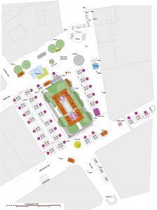 Map of Vorosmarty Square Christmas Market