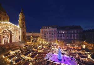 Budapest Christmas Market by St Stephen's Basilica