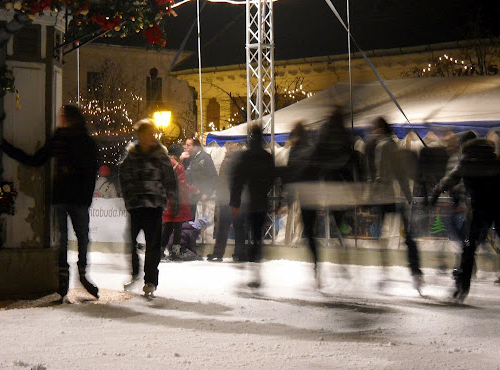 Budapest Christmas market skating rink