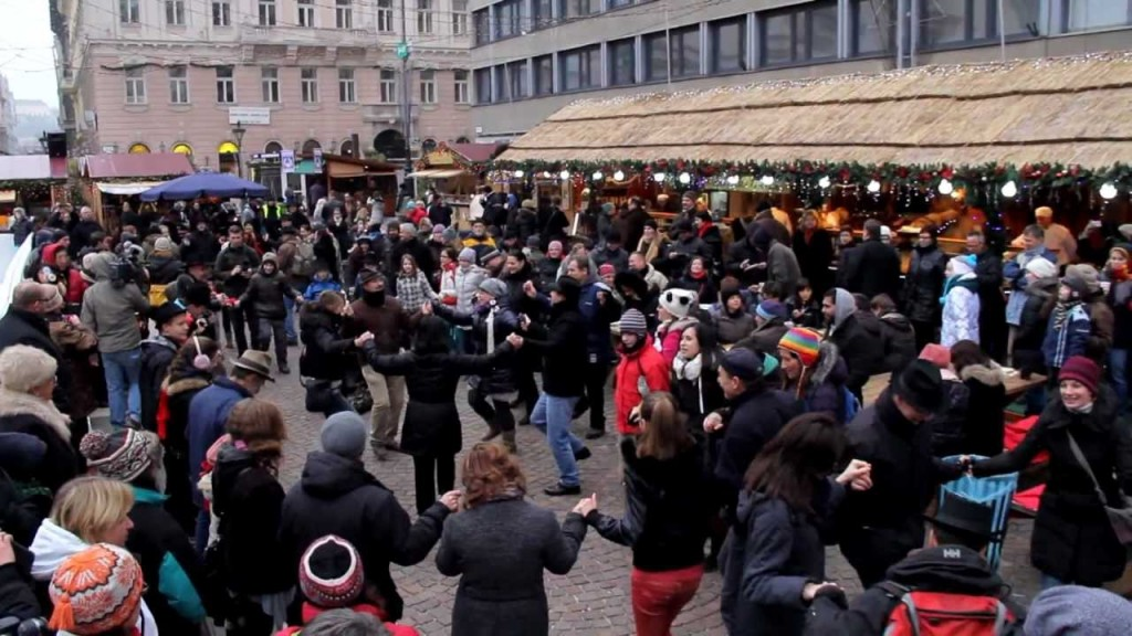 Goncol Hungarian Folk Band at Budapest Christmas Market by Basilica