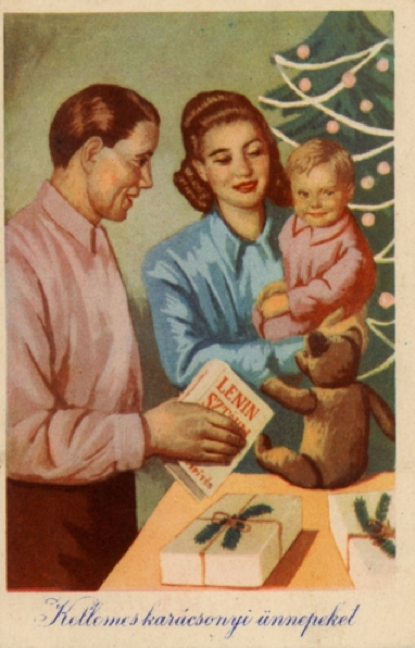 Hungarian Christmas Postcard in the Communism