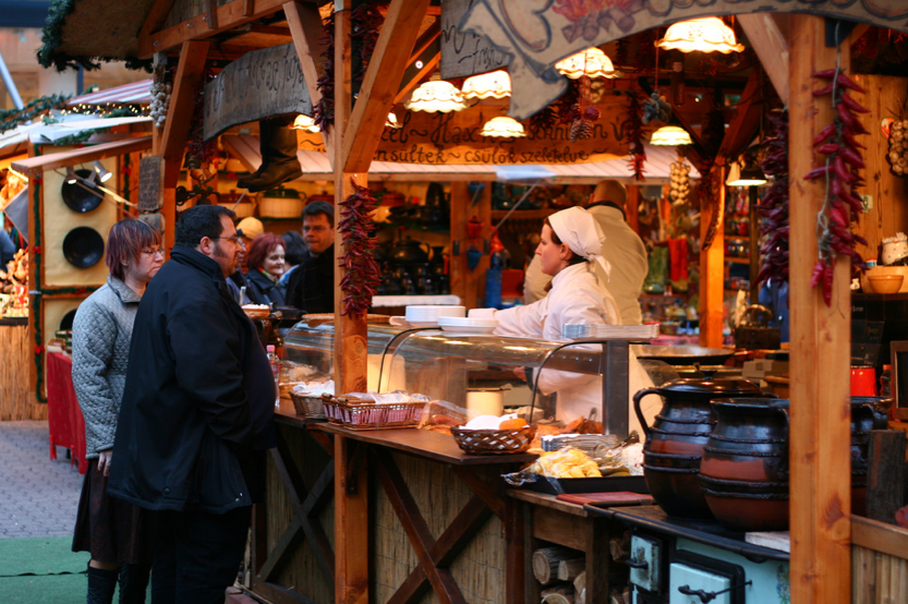 Hungarian Foods at Budapest Xmas Fair
