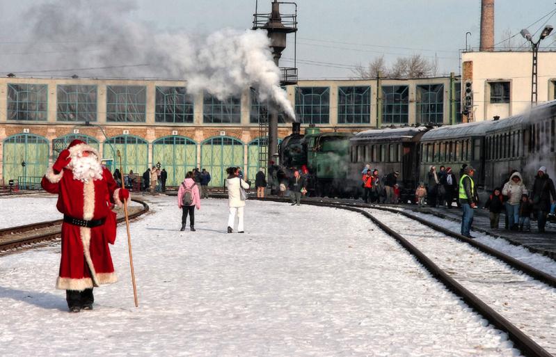 Santa Claus in Budapest Railway Museum