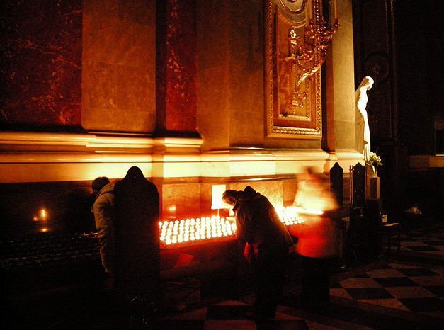 St Stephens Basilica Budapest Candles