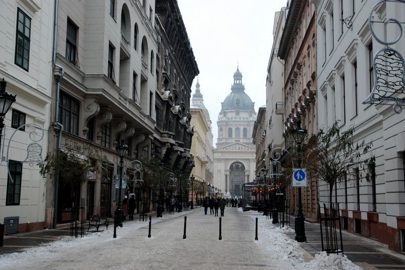 St Stephens Basilica Budapest in December