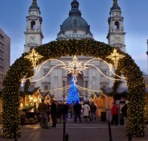 Budapest Christmas Market Basilica