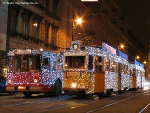 Christmas Tram and Trolley Duo Budapest hamster