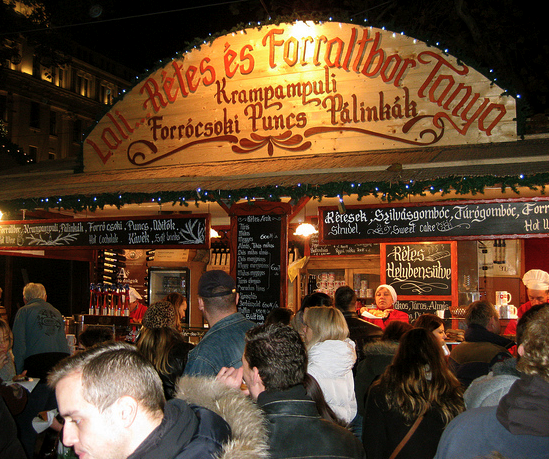 Krampampuli at Budapest Christmas Market