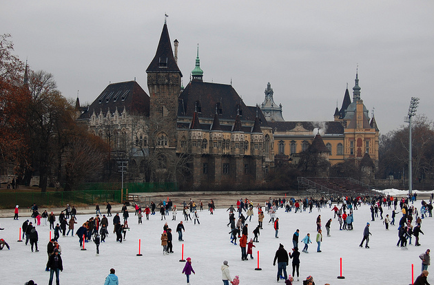 Skating Rink by Vajdahunyad Castle