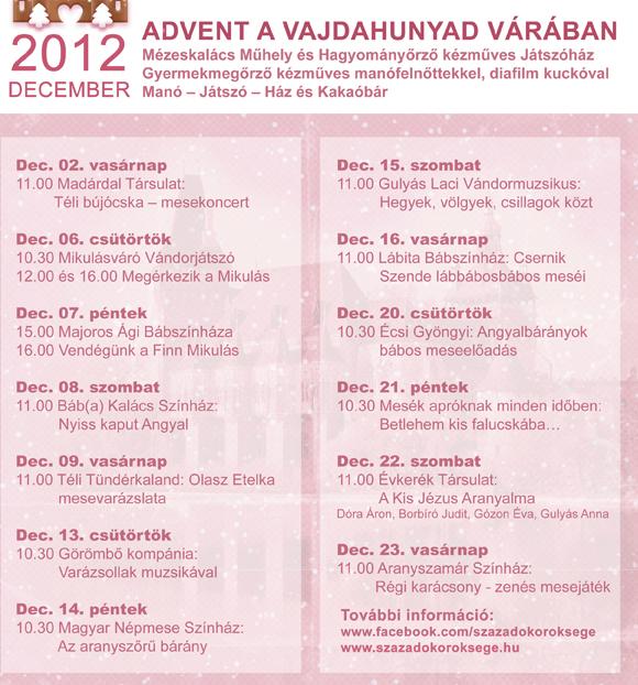 Vajdahunyad Castle Christmas