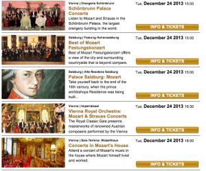 Vienna Christmas Concerts Austria