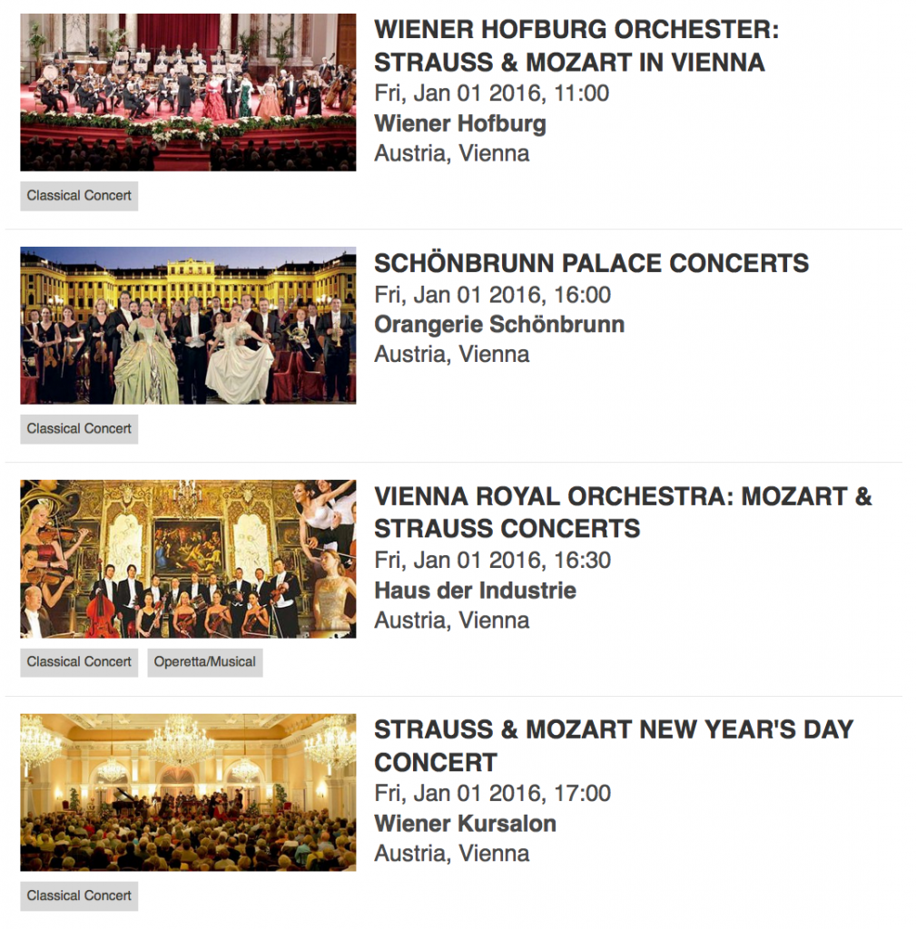Vienna New Years Day Concerts 2016