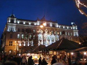 Budapest Christmas Market Night Winter Sights Hargittai
