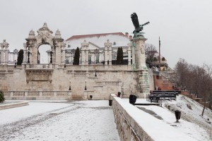 Budapest Winter in Buda Castle, the Hapsburg Gate