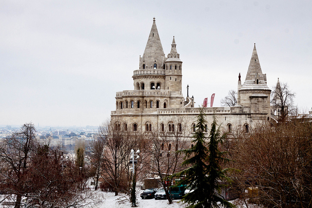 Budapest Fishermans Bastion Winter