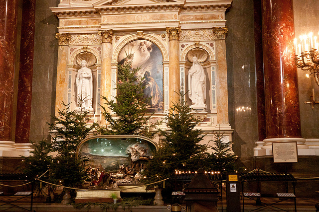 Budapest Christmas in St Stephen Basilica Christmas Trees