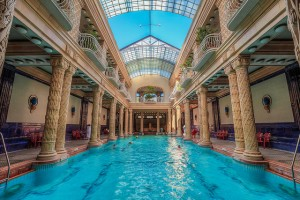 Gellert Spa Pool Budapest Winter Holiday
