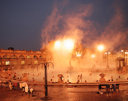 Szechenyi Baths Budapest Christmas Winter Holiday