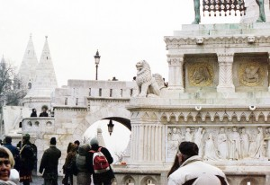 Budapest Fisherman's Bastion in Winter