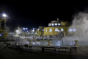 Budapest Szechenyi Baths in Winter Dec 26