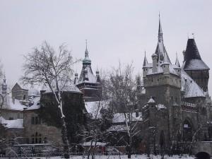 Budapest Vajdahunyad Castle in Winter