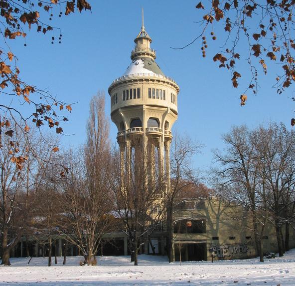 Margaret Island Winter Budapest Viztorony