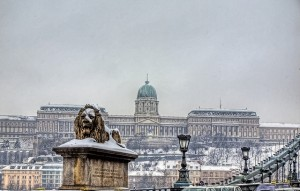 Winter Buda Castle Hill