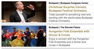 Budapest Dec 26 concerts
