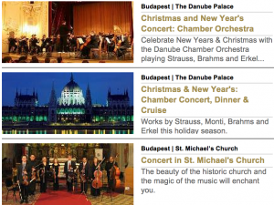 Dec 25 Christmas Concerts Budapest