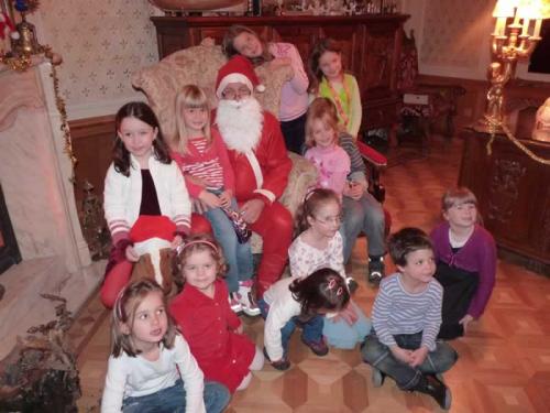 Santa Claus in Budapest Chocolate Museum