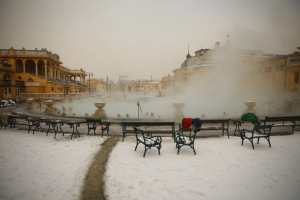 Szechenyi Baths Budapest in Winter