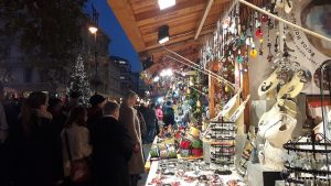 Christmas Fair on Vorosmarty Square Budapest