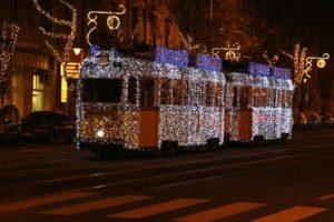 Christmas Streetcar Budapest